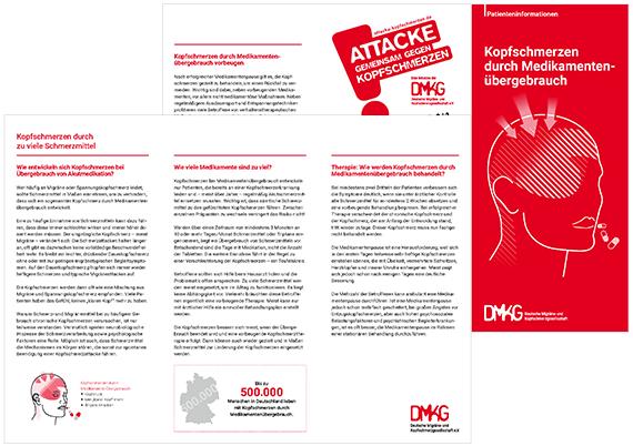 Patienteninformation Kopfschmerzen durch Medikamentenübergebrauch | DMKG