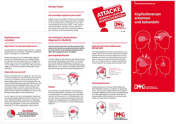 Patienteninformation Kopfschmerzen erkennen und behandeln | DMKG