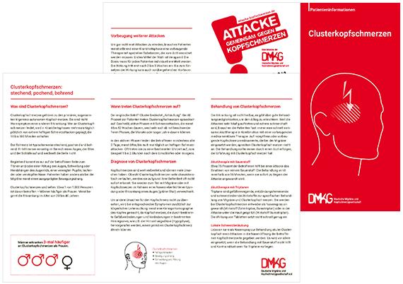 Patienteninformation Clusterkopfschmerzen | DMKG